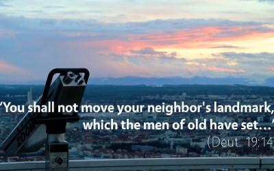 June 14th: Bible Meditation for Deuteronomy 19