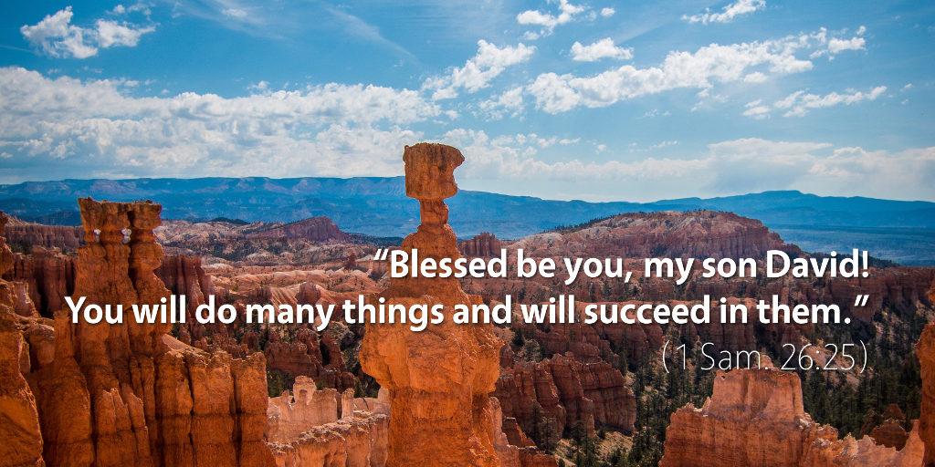 September 2nd: Bible Meditation for 1 Samuel 26
