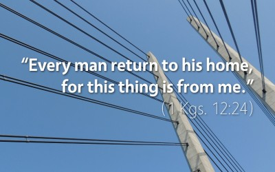 October 9th: Bible Meditation for 1 Kings 12