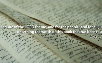 November 9th: Bible Meditation for 2 Kings 22